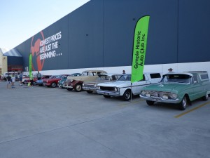 A great line up of GHAC cars at Bunnings Gympie 'Jump into Spring' display.