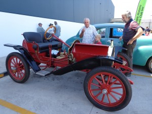 The 1911 Hupmobile was the oldest car at the Bunnings 'Jump into Spring' display.