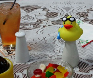 Having a quacking good time at the GHAC Christmas dinner.