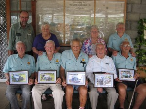 GHAC life members 2017 Back:  Brian, Shirley, Audrey, Shirley Front: Wally, Don, Athol, Eric, George